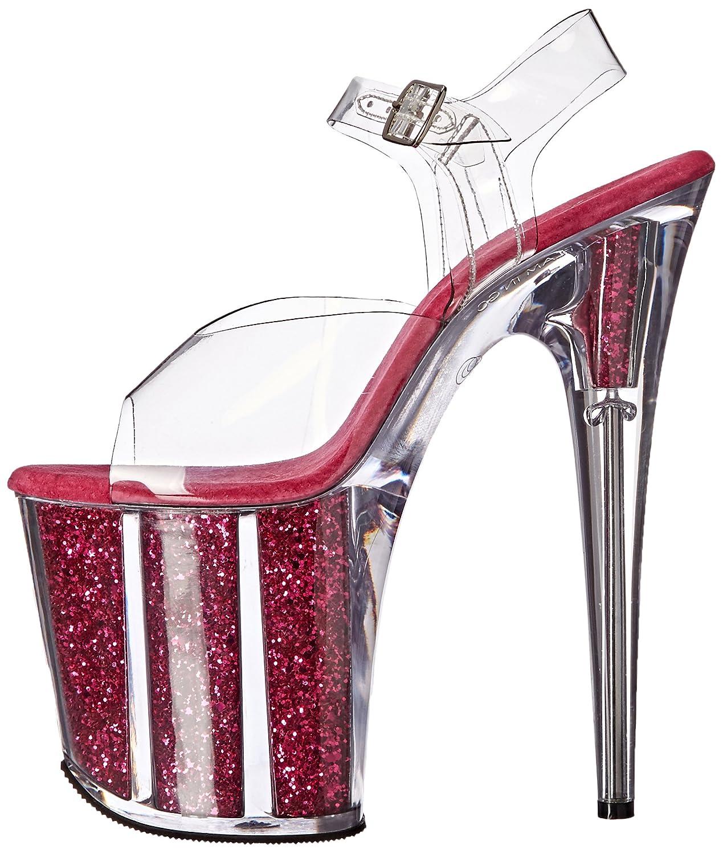 Pleaser 8 Women's Flam808g/c/Hp Platform Sandal B01MZ2H7L6 8 Pleaser B(M) US Clr/H. Pink Glitter 960678