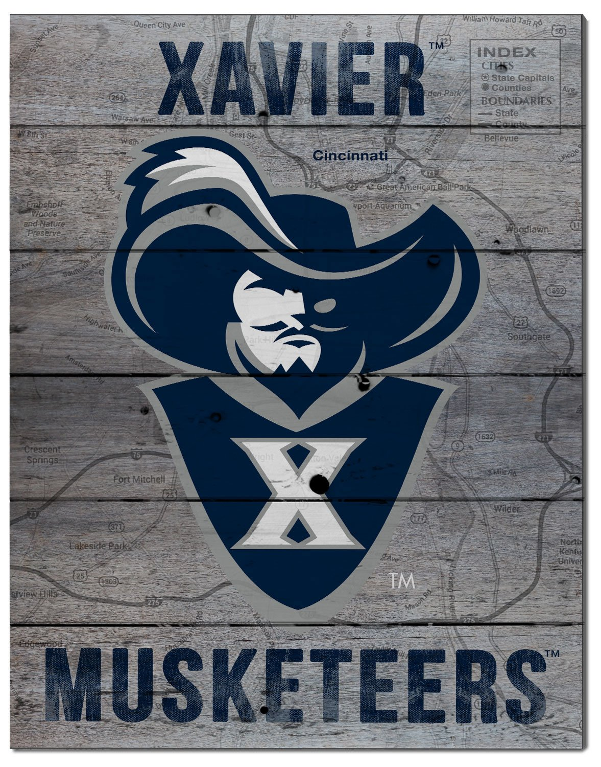 KH Sports Fan 16'x20' Xavier Ohio Musketeers Road to Victory Collage Pallet Pride Plaque