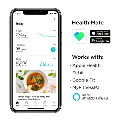 Withings | Body Cardio – Heart Health & Body Composition Digital Wi-Fi  Scale with smartphone app, Black