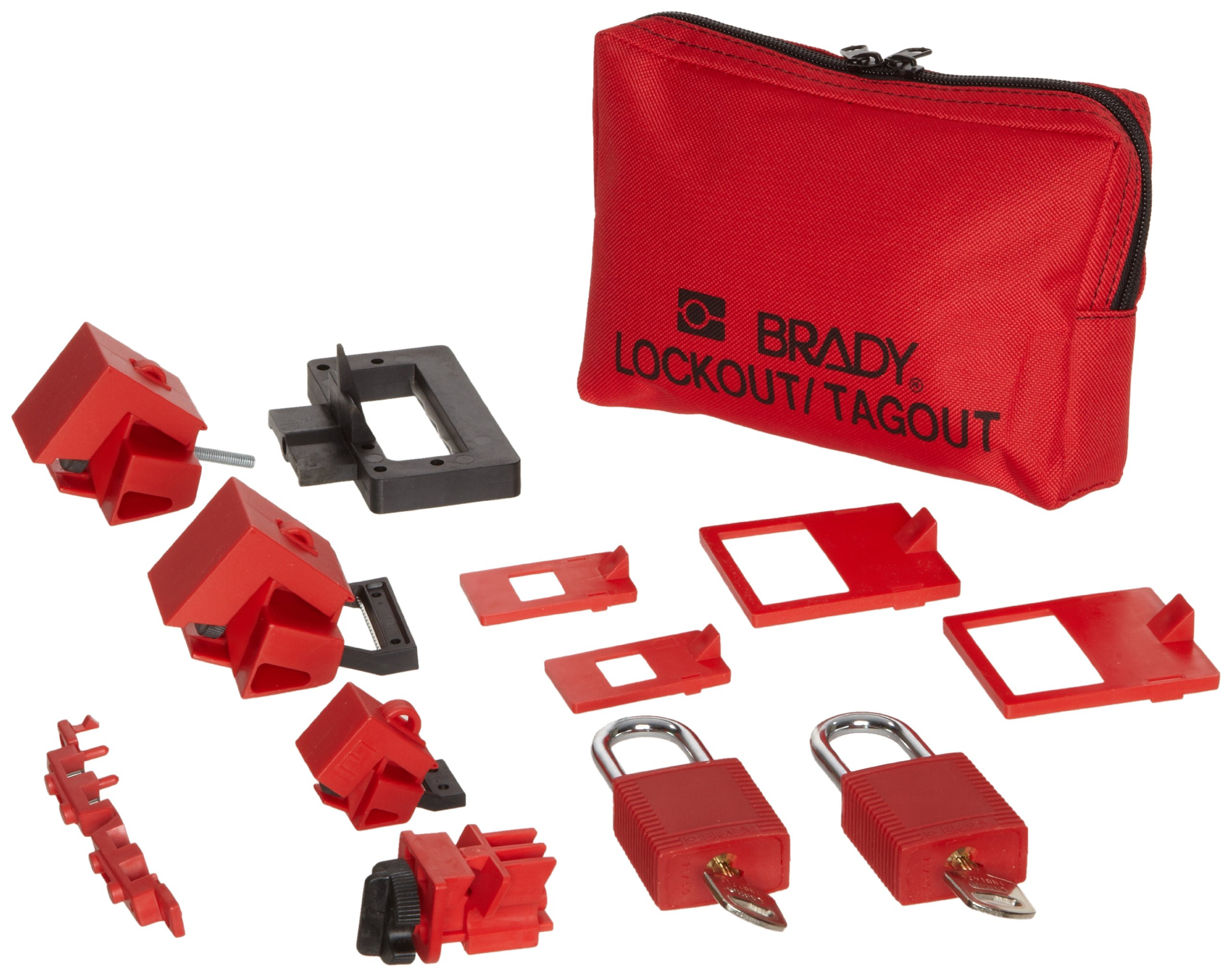 Brady Lockout Sampler Pouch Kit, includes 2 Safety Padlocks and 2 Tags - 99296 by Brady