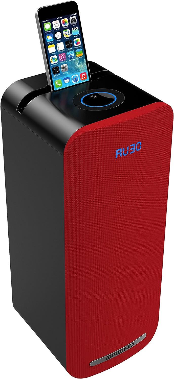 Sogo ALT-SS-8705-R - Altavoz Mini Torre con Bluetooth Multimedia, Color Rojo