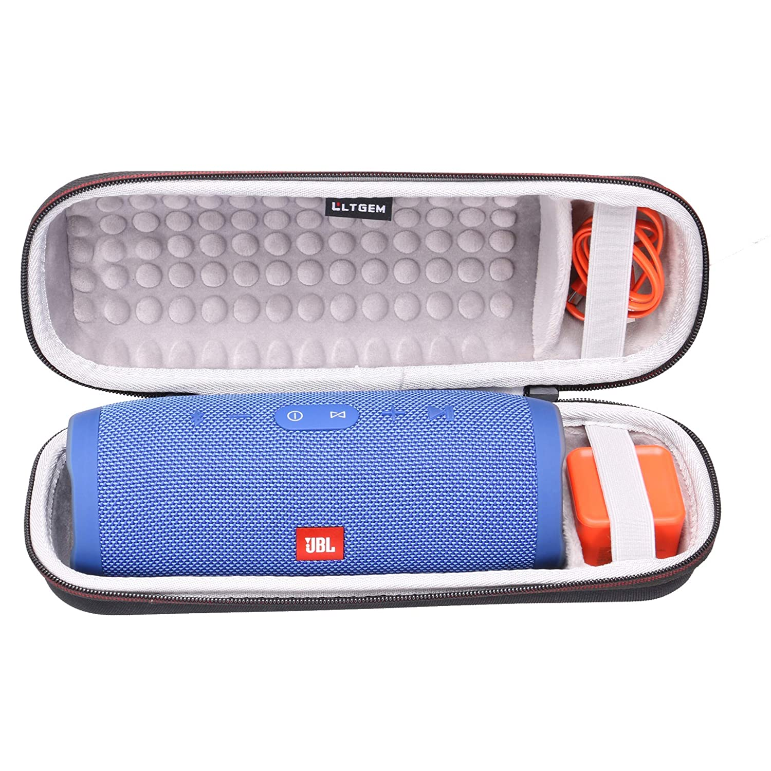 LTGEM Case for JBL Charge 3 Waterproof Portable Wireless Bluetooth Speaker Fits USB Cable and Charger.