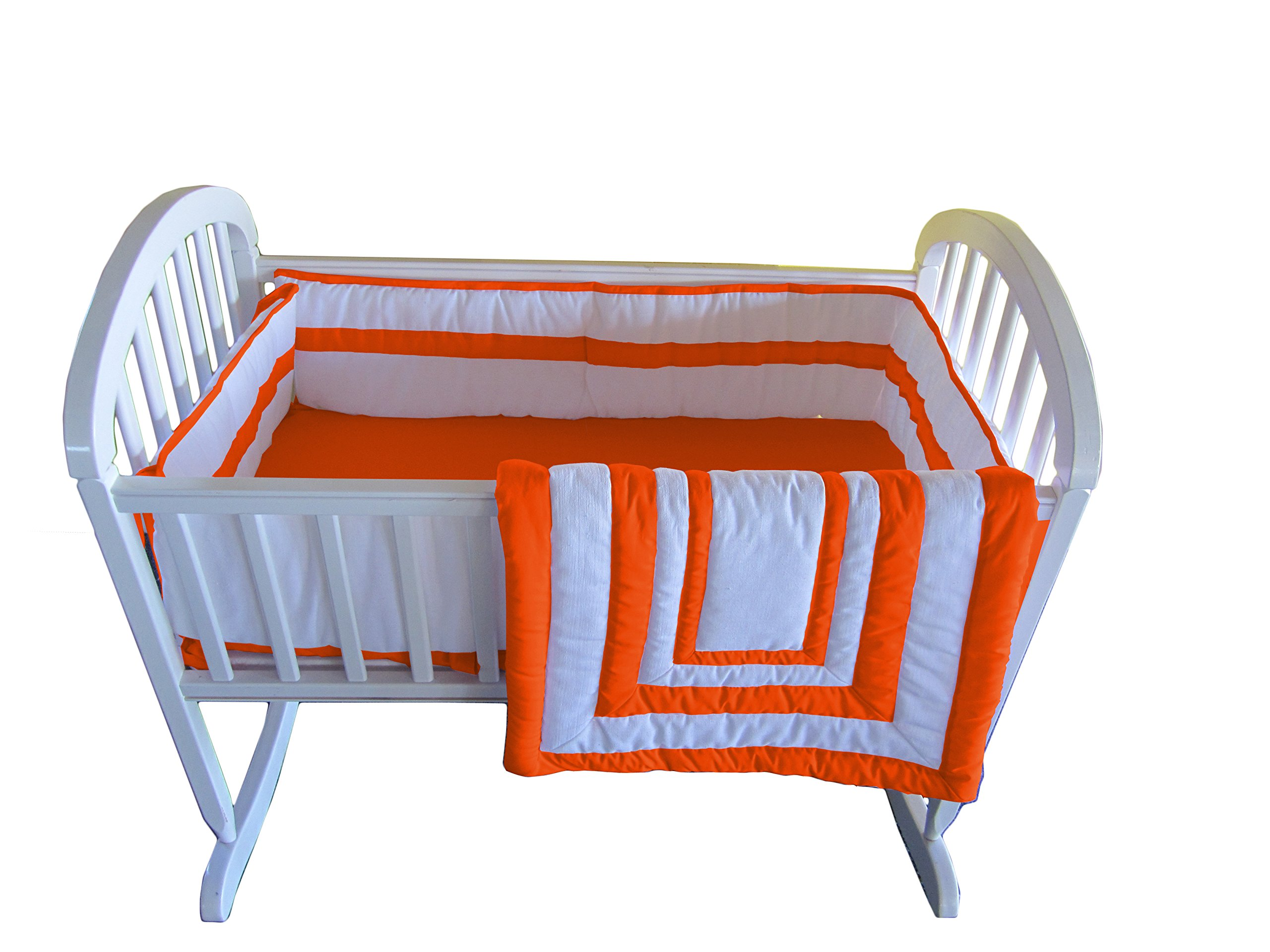Baby Doll Bedding Modern Hotel Style Cradle Bedding Set, Orange by BabyDoll Bedding