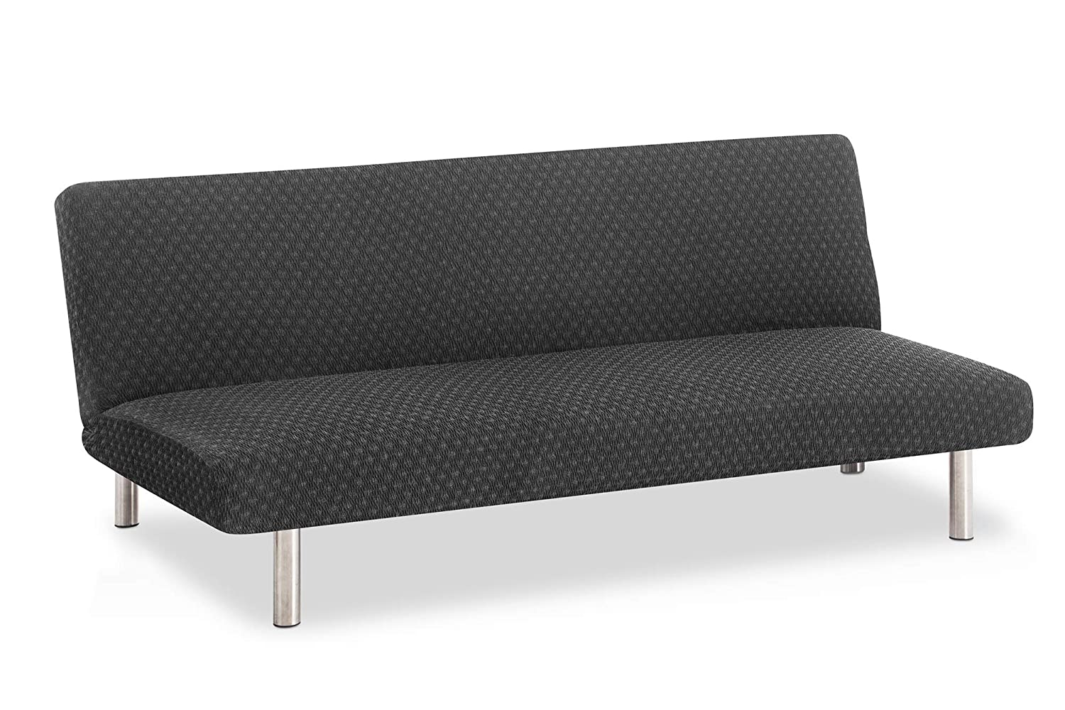 Bartali Elastic Sofabed Click-clack Cover Olivia - Black Colour - Standard size (from 170 to 205 cm)