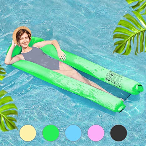 Henkelion Inflatable Adult Mesh Pool Floats, [2019 Upgraded] Pool Floating  Lounger Chair for Kids Adults Girls Boys with Carry Bag   Fast Inflated  ...