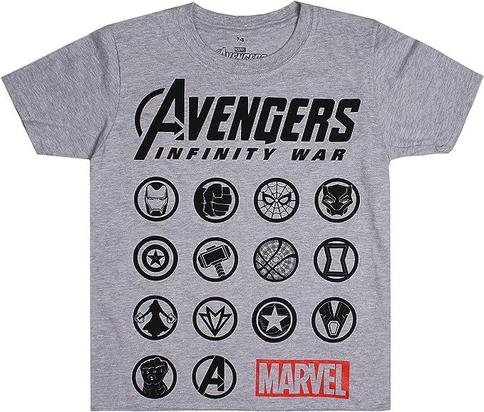 Marvel The Avengers-Emblems Camiseta para Niños: Amazon.es: Ropa y accesorios