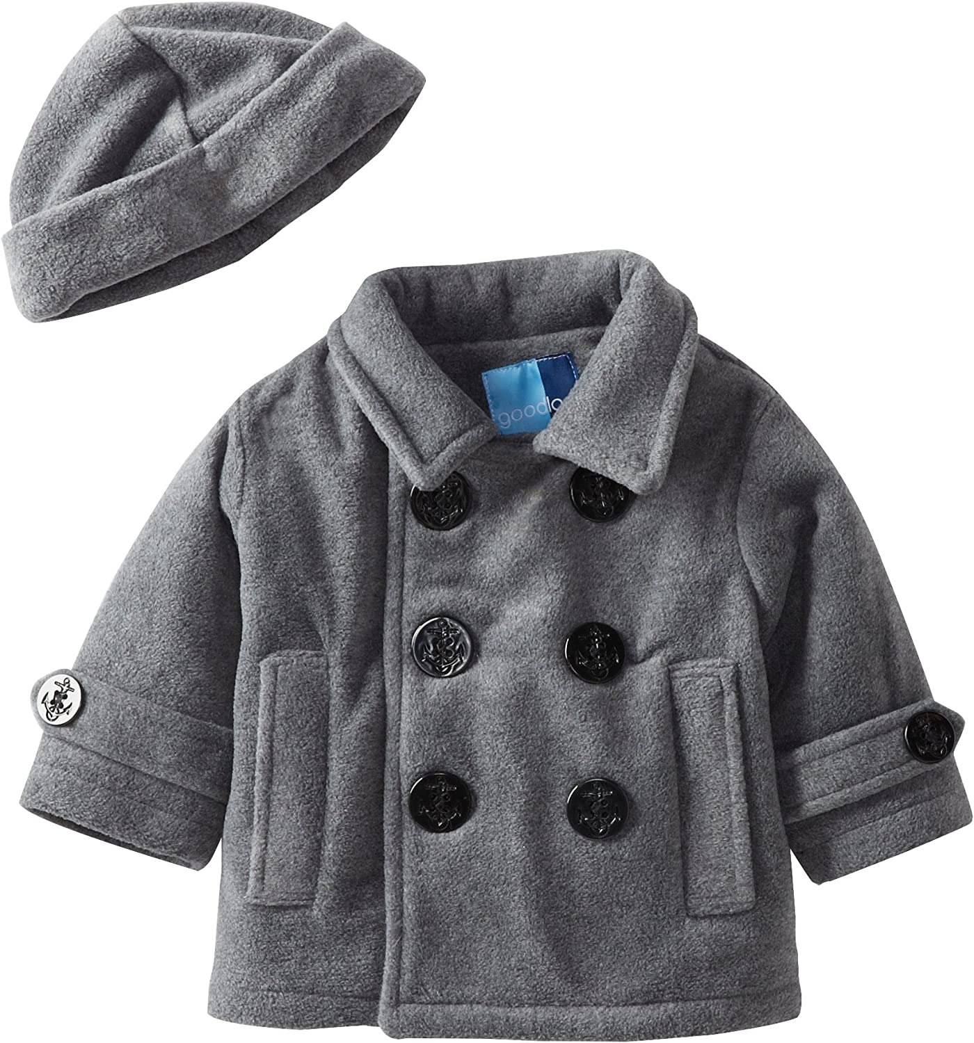 LONDON FOG BABY Coat Lined Nautical Pea Coat 12 months Free Shipping