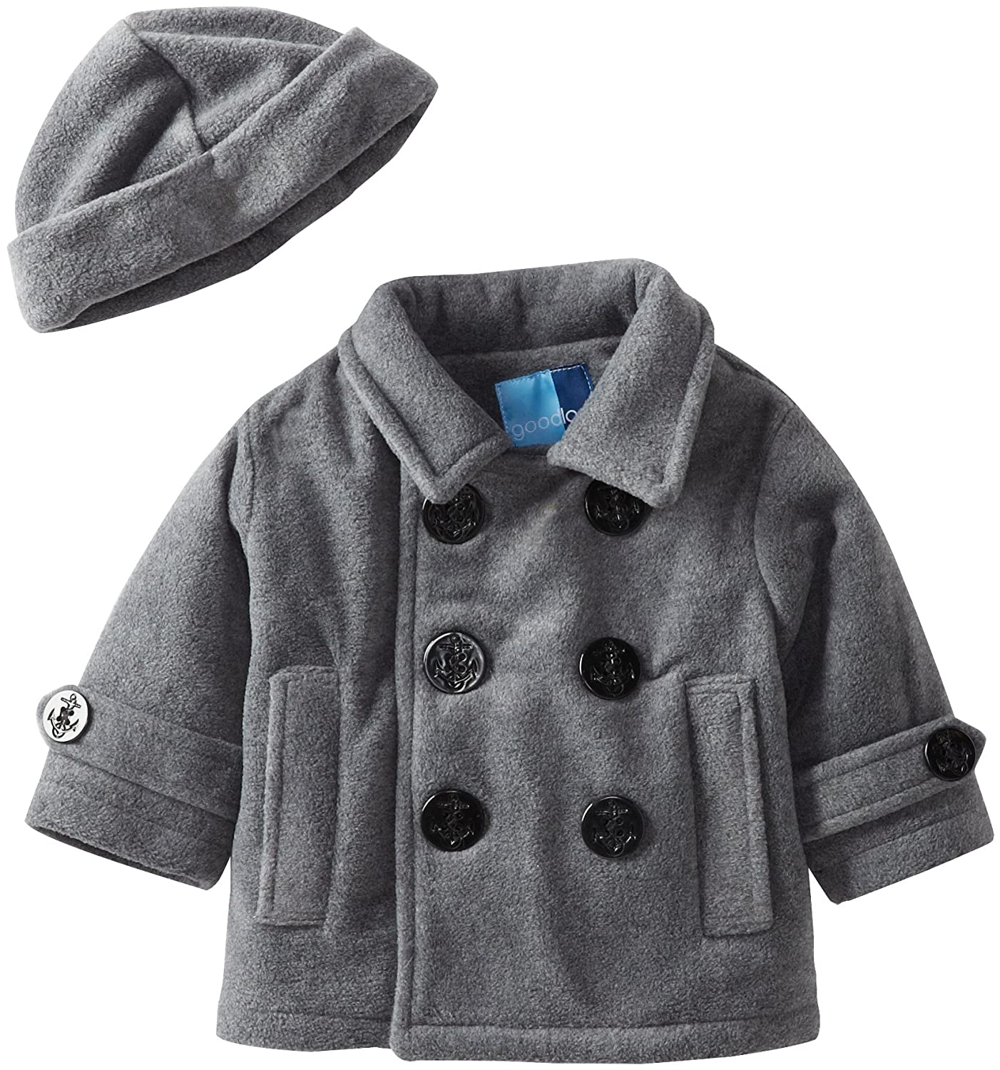Amazon.com: Good Lad Baby Boys' Peacoat with Hat, Gray, 24 Months ...