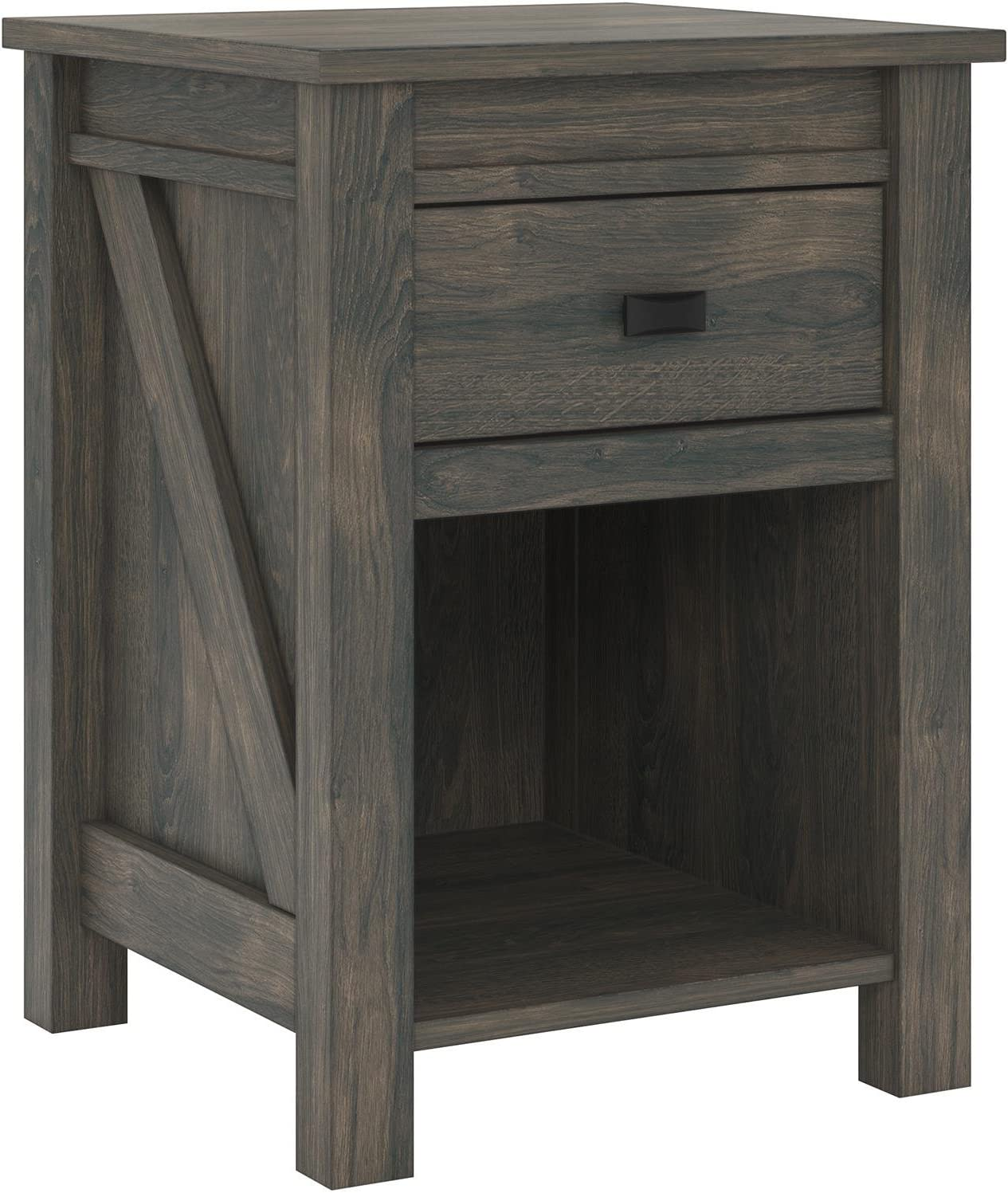 Ameriwood Home Farmington, Nightstand, Weathered Oak