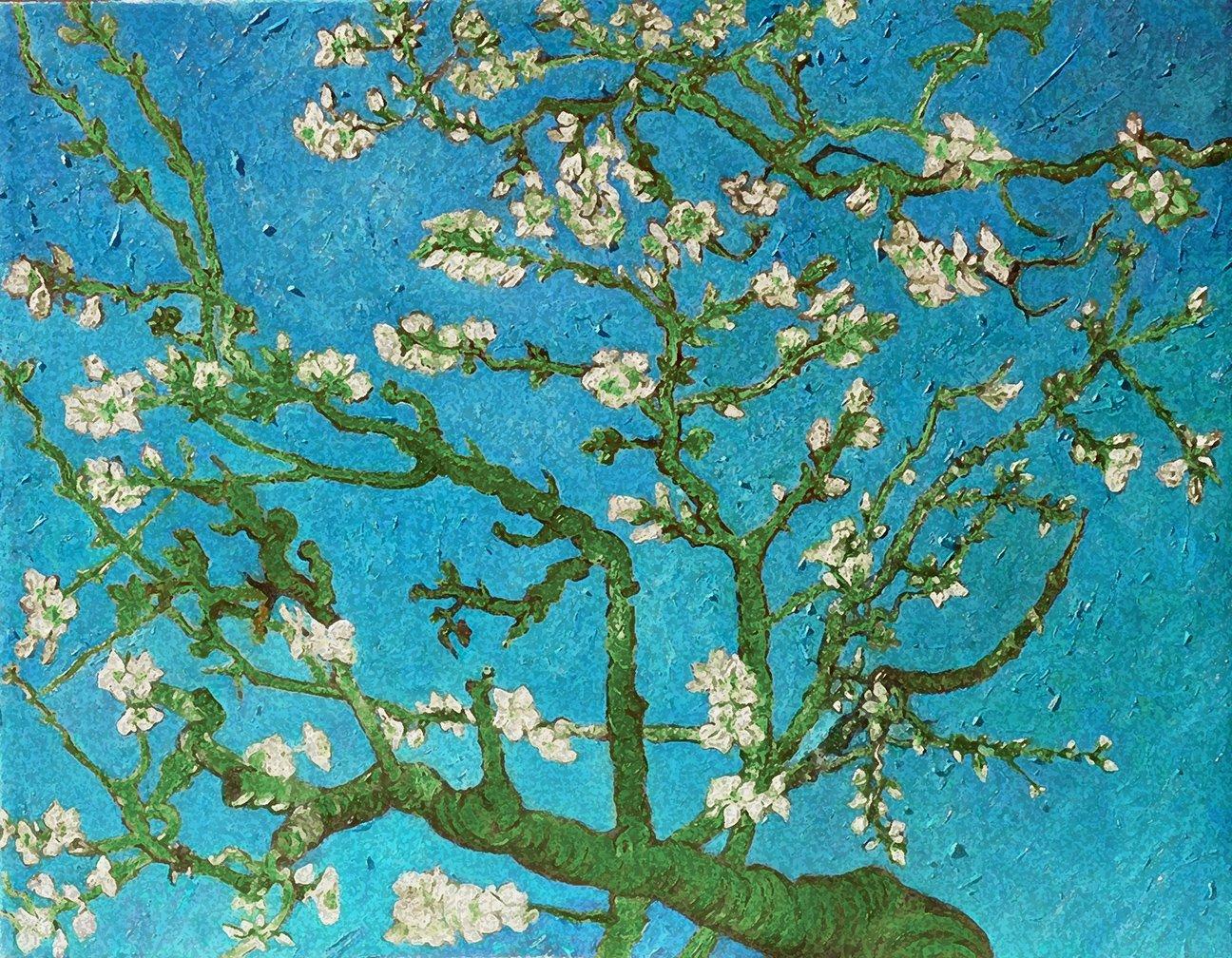 ArtVerse VAN013A1418A Van Goghs Almond Blossom in Blue and Green Removable Art Decal 14 x 18 RetailSource Ltd