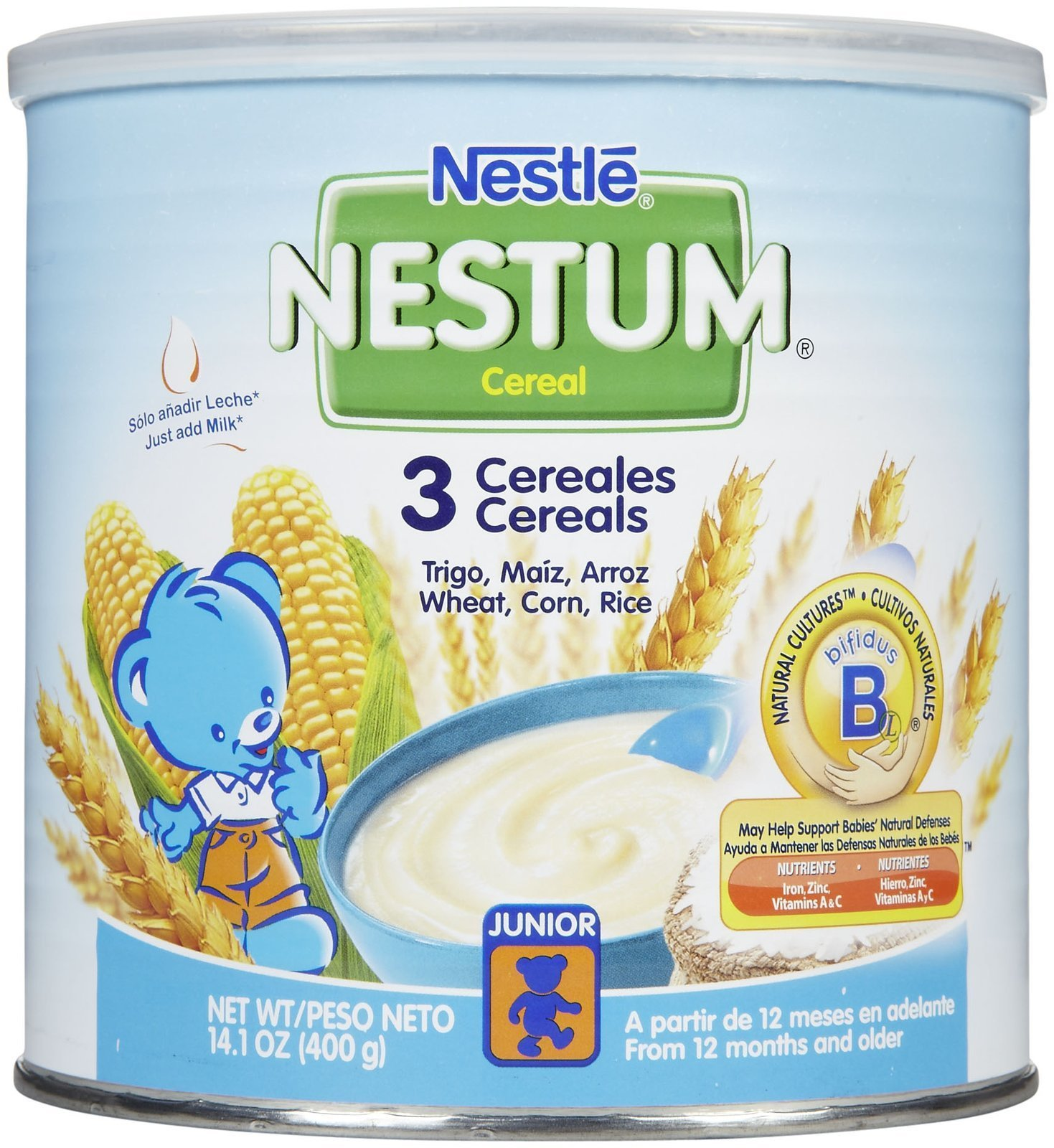 Nestum Toddler Cereal - 3 Cereals - 14.1 oz