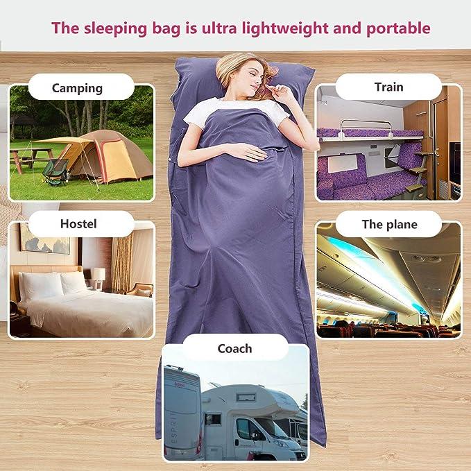 Amazon.com: Goodlee - Saco de dormir para viaje: Sports ...