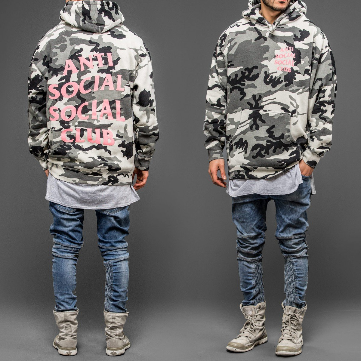 a5a6f869bce2 Kardiance Snow Camo Anti Social Social Club ASSC Hoodie Hoody   Amazon.co.uk  Clothing