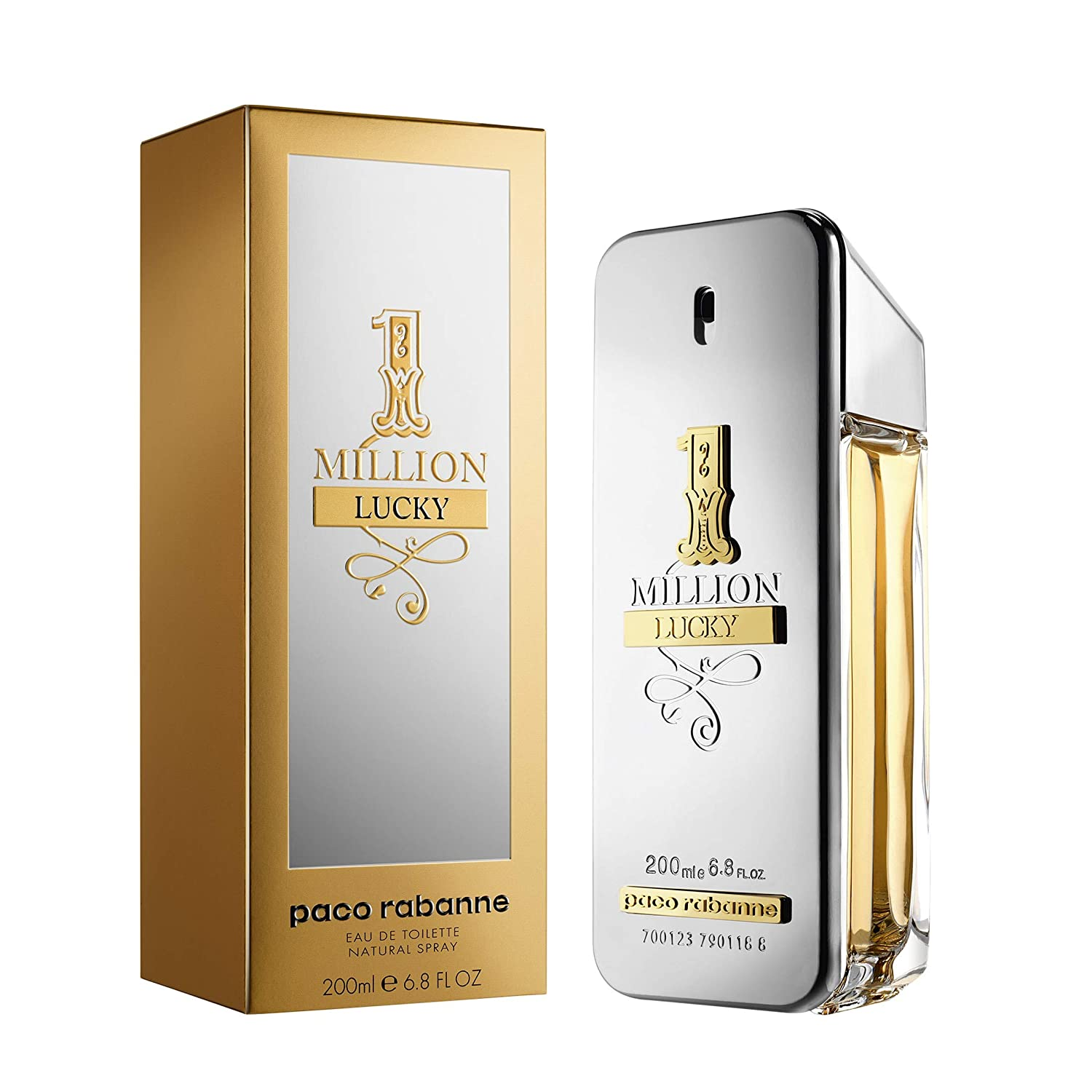 Amazoncom Paco Rabanne One Million Lucky Eau De Toilette 200 Ml