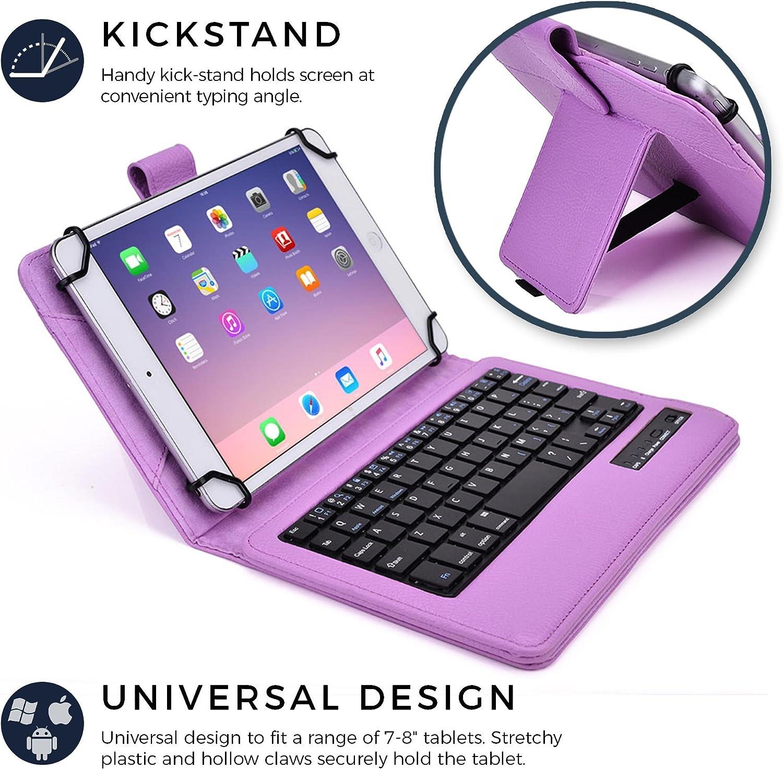 Cooper Infinite Executive 2 en 1 pulgadas para Windows y Android soporte 8 Funda con teclado para tablet de 7 con teclado inal/ámbrico conectado por Bluetooth funda de transporte de viaje en piel tipo folio