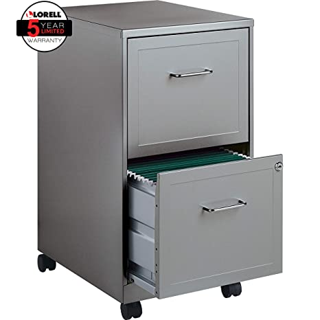 Astounding Lorell 16873 2 Drawer Mobile File Cabinet 18 Inch Depth Gray Interior Design Ideas Pimpapslepicentreinfo