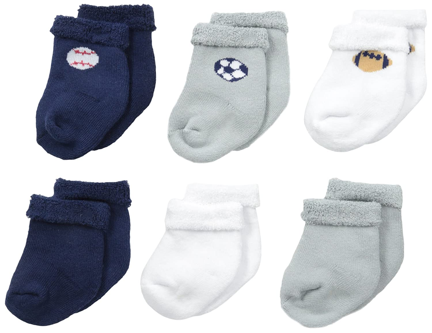 Gerber Baby Boys' 6 Pack Sock Gerber Children' s Apparel 93047616AB17