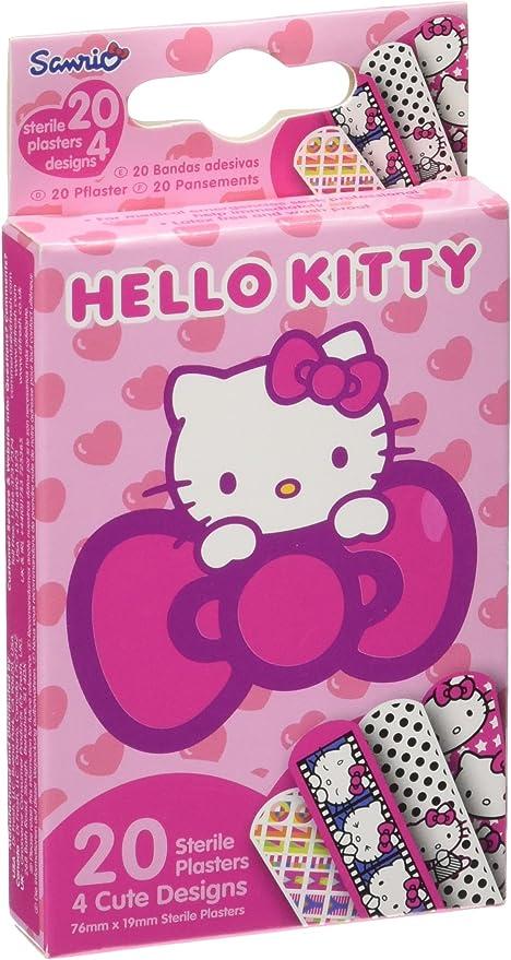 Tiritas AES000600 - Tiritas en caja de cartón, diseño Hello Kitty: Amazon.es: Bebé