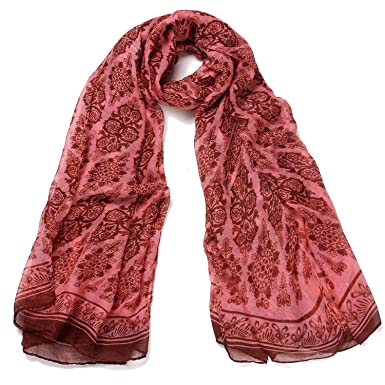 77df7962ef01a8 DonDon Women's Animal Print Scarf One Size - Pink - One Size: Amazon.co.uk:  Clothing