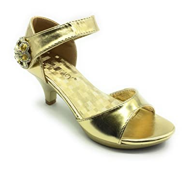 2045375f2d1 ShoeShoe Angel Collection Womens Strappy Rhinestone Prom Dress Party Evening  Wedding Sandal Low Heel Shoes