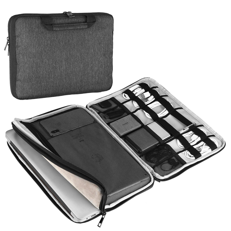 Devmlicor 13-13.3 inch Laptop Sleeve Multifunctional Waterproof Laptop Case Bag for Apple Macbook Notebook Ultrabook - 360° Protective Chromebook Tablet Case