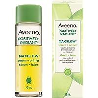 Aveeno MaxGlow Face Serum and Primer with Kiwi, Hydrating and Brightening, 45 mL