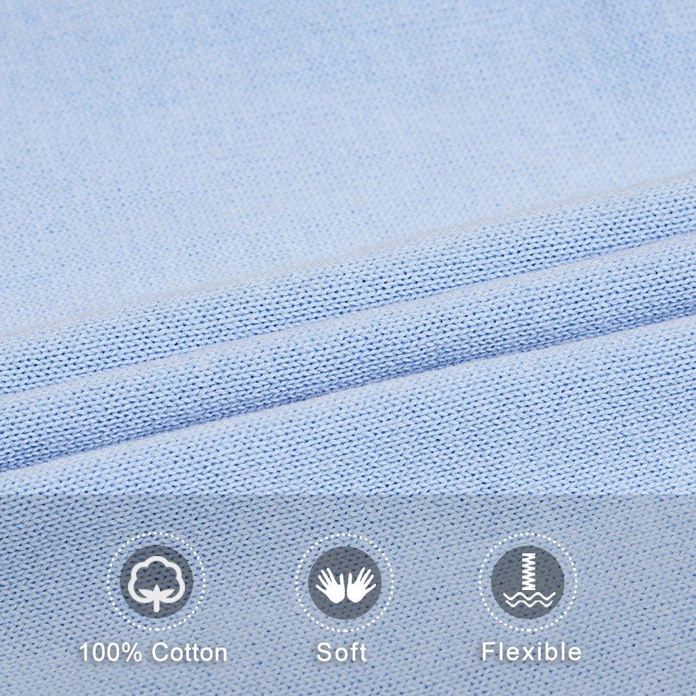 Benito & Benita Sweater Vest School Vest V-Neck Uniforms Cotton Cable-Knit Pullover for Boys/Girls 2-12Y Light Blue by Benito & Benita (Image #6)
