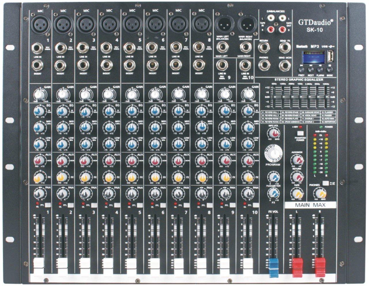 gtd-audio 10 canal 4000 W profesional mesa de mezclas amplificador ...