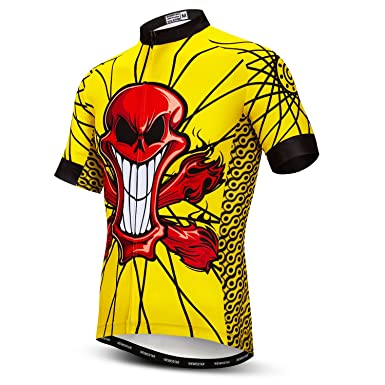 ... Amazon com Mens Cycling Jersey Short Sleeves Mountain Bike Shirt 6a596a9f2