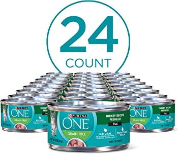 24-Pack Purina ONE Natural Adult Canned Wet Cat Food