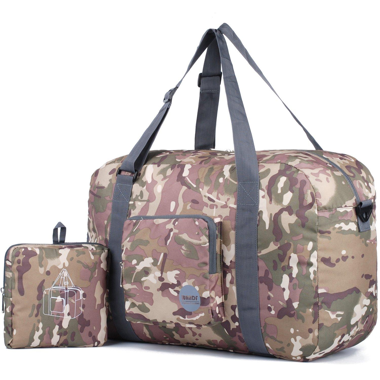 Wandf Foldable Travel Duffel Bag Luggage Sports Gym Water Resistant Nylon (CAMO)