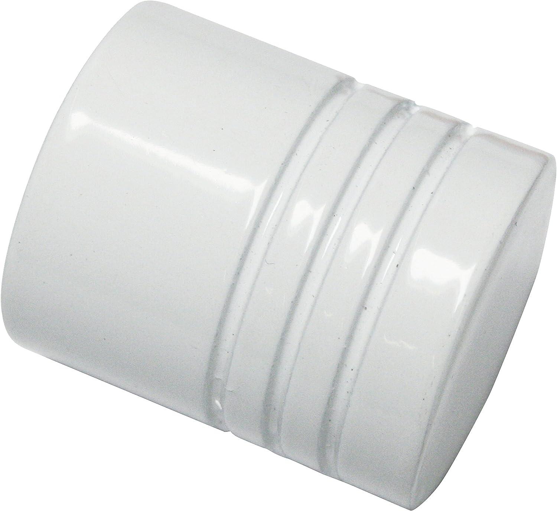 Metall Wei/ß Durchmesser 20 mm GARDINIA Endkn/öpfe f/ür Gardinenstangen 2 x Endst/ück Zylinder Serie Chicago