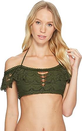 71a151ebef Becca by Rebecca Virtue Women s Color Play Bandeau Bikini Top Bay Leaf S
