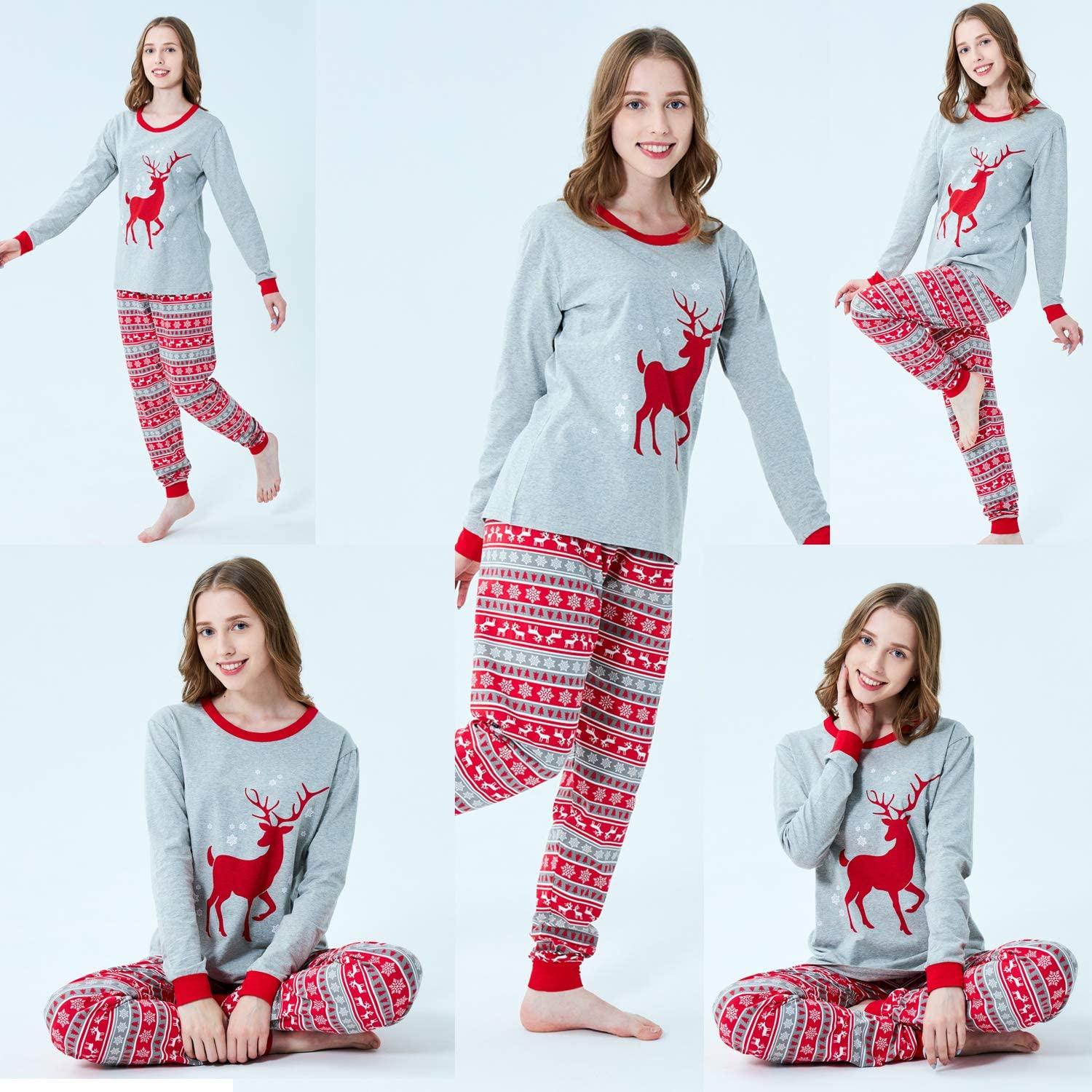 Demifill Matching Family Christmas Boys Girls Pajamas Striped//Bear Kids Sleepwear