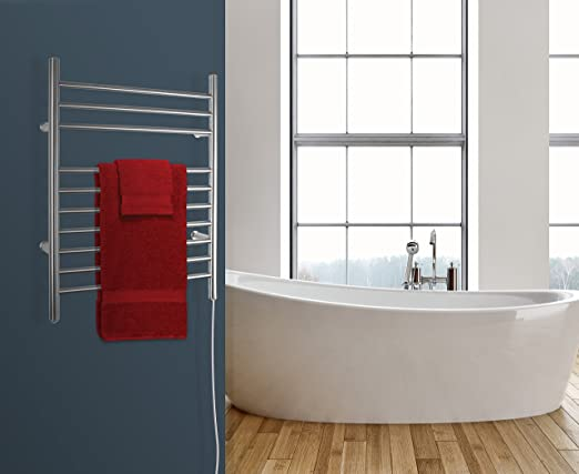 Amazon.com: WarmlyYours Infinity Towel Warmer 10 bar Brushed Stainless Steel: Home & Kitchen