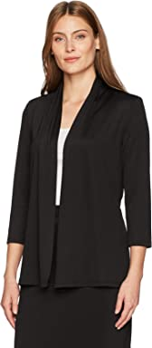 Kasper Womens 3/4 Sleeve Cardigan with Back Waist Detail,