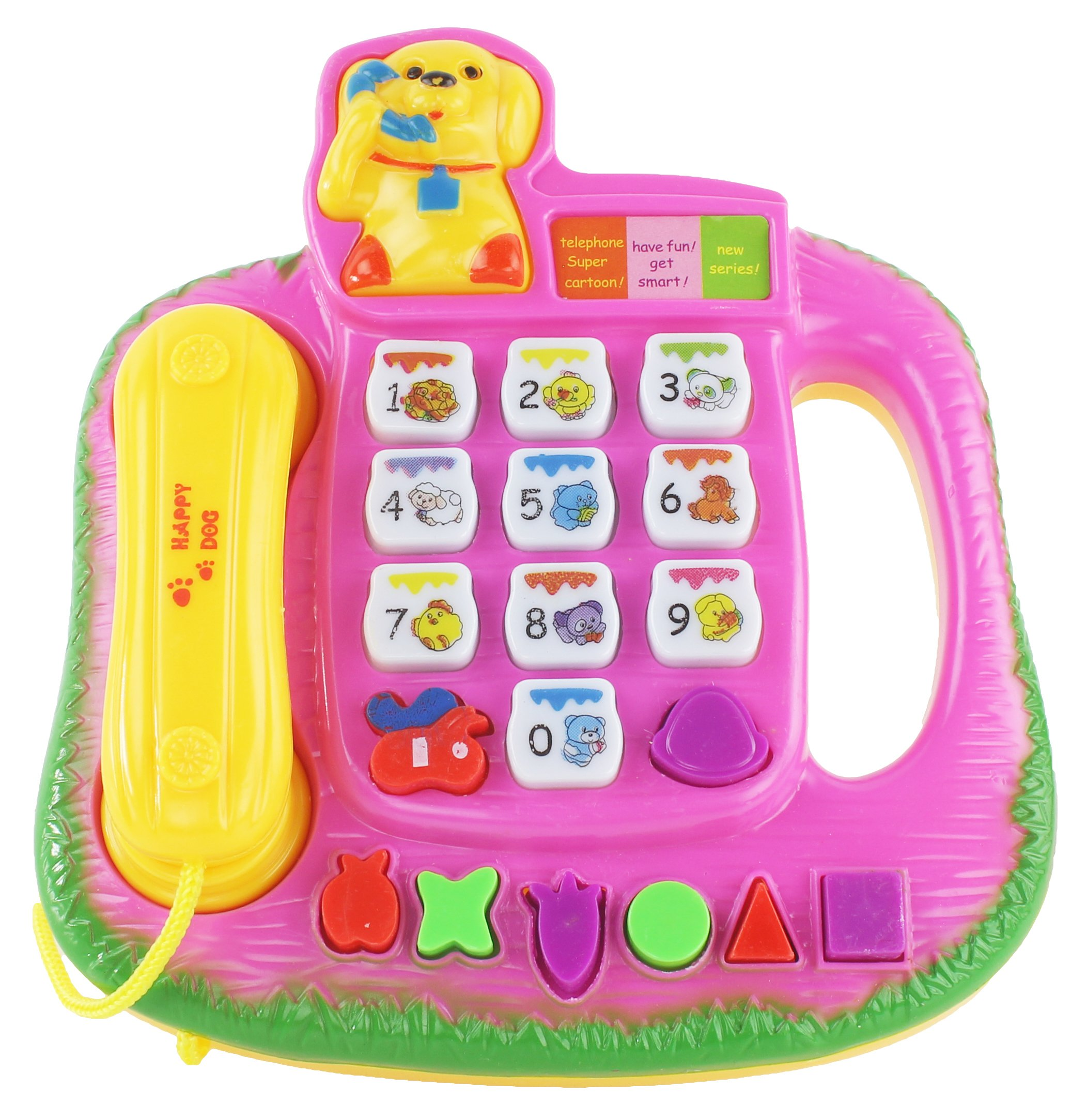 AJ Toys & Games Dog Themed Battery Operated Telephone, Phone for Kids, Children's Pretend Play Phonephone Colorful Assorted Colors! by AJ Toys & Games