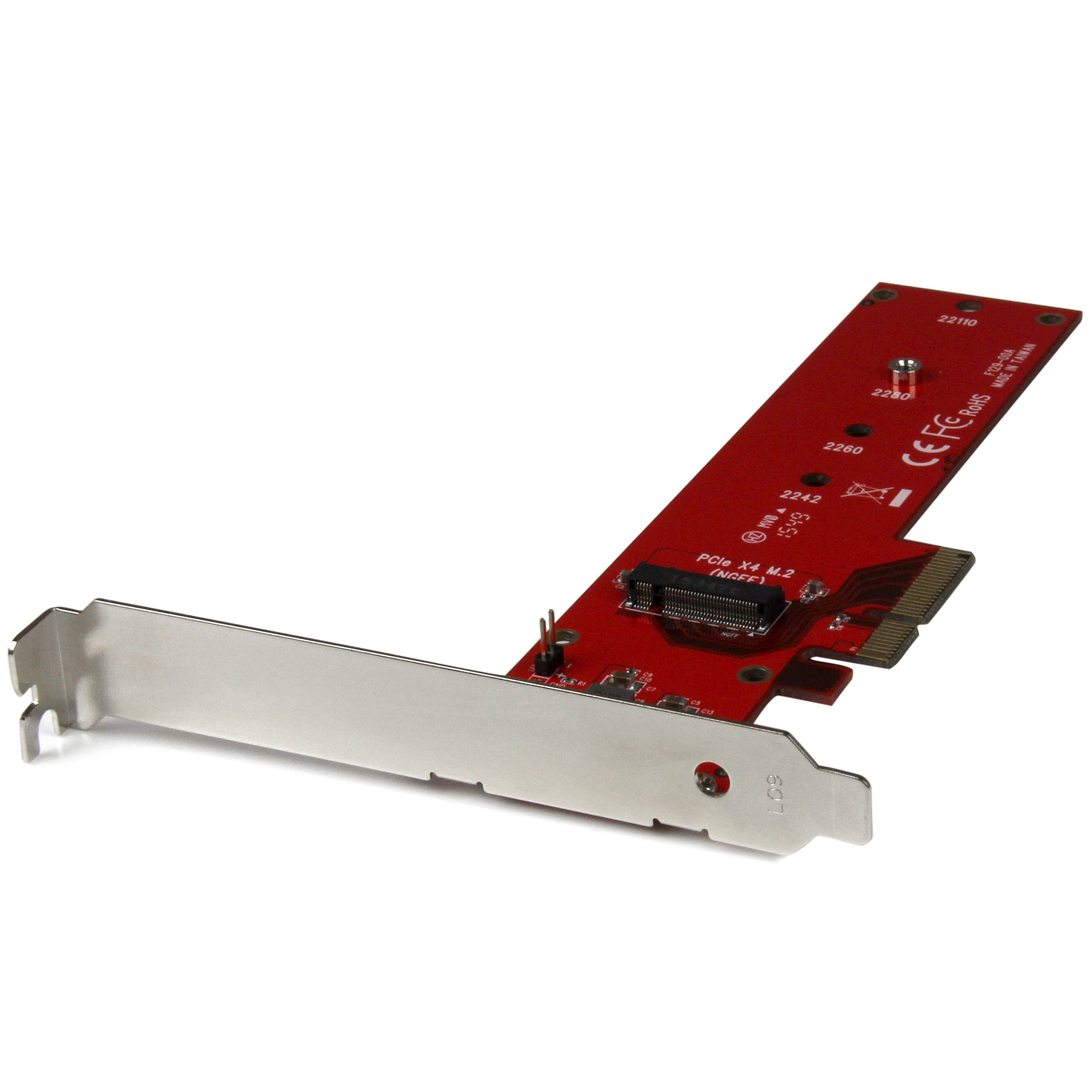 StarTech.com PEX4M2E1 M.2 Adapter – x4 PCIe 3.0 NVMe – Low Profile and Full Profile – SSD PCIE M.2 Adapter – M2 SSD – PCI Express SSD