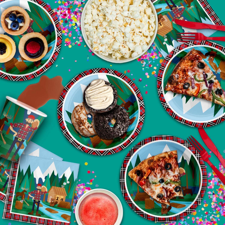 Amazon.com: Lumberjack - Juego de servilletas para fiestas ...