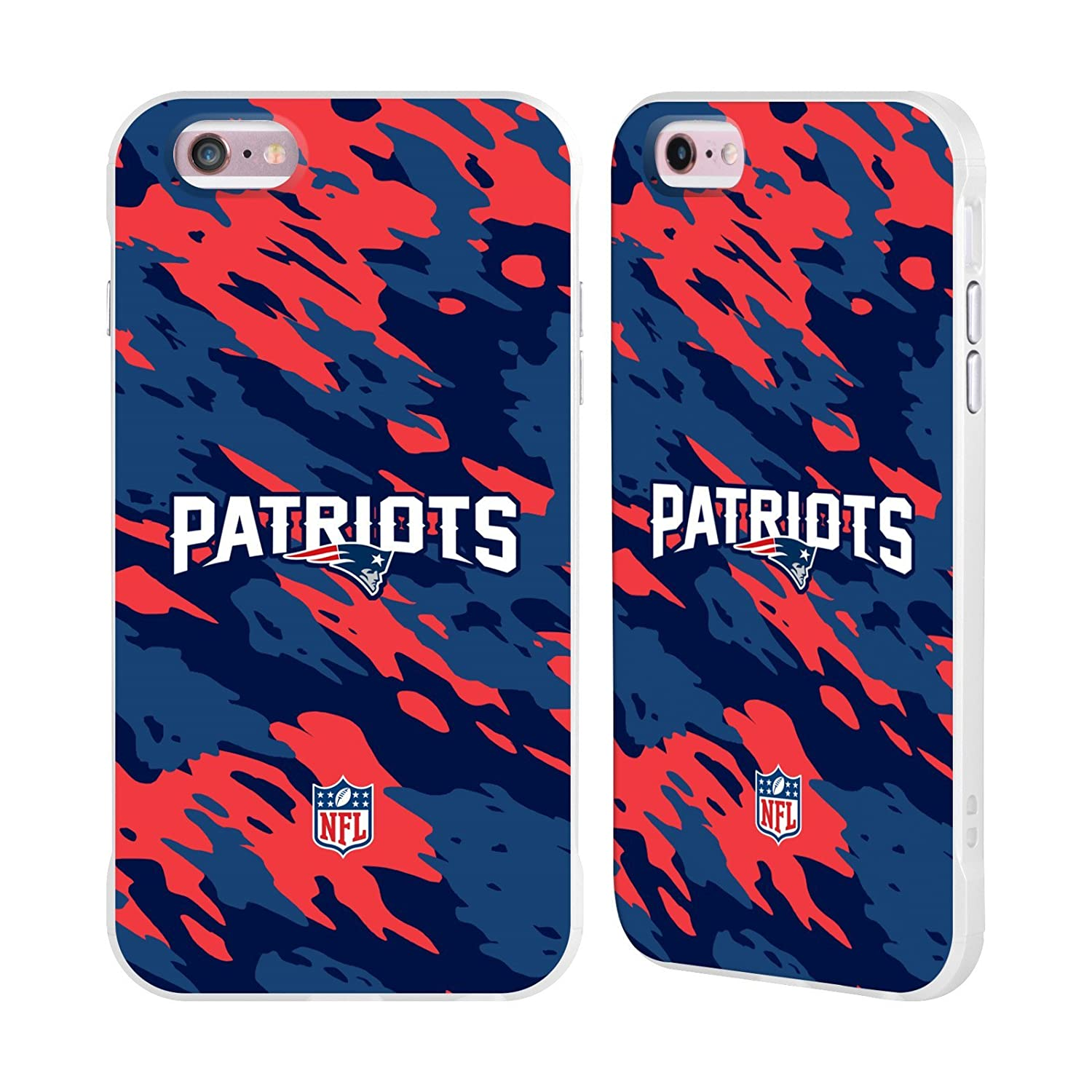 Ufficiale NFL Elmetto New England Patriots Logo Bianco Fender Case per Apple iPhone 6/iPhone 6s Head Case Designs H6021-IPH6-NFLLOENG-HEL