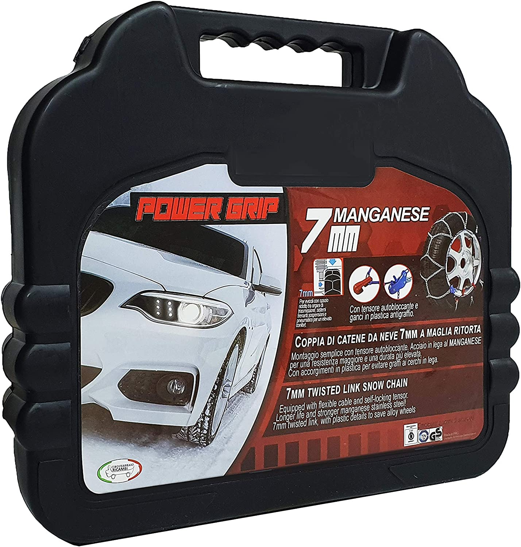 Catene da Neve Power Grip 7mm Omologate gruppo 80 per pneumatici 215//40r17