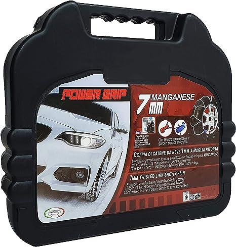 Catene da Neve Power Grip 7mm Omologate gruppo 100 per gomme 225//45R18 Fiat 500X
