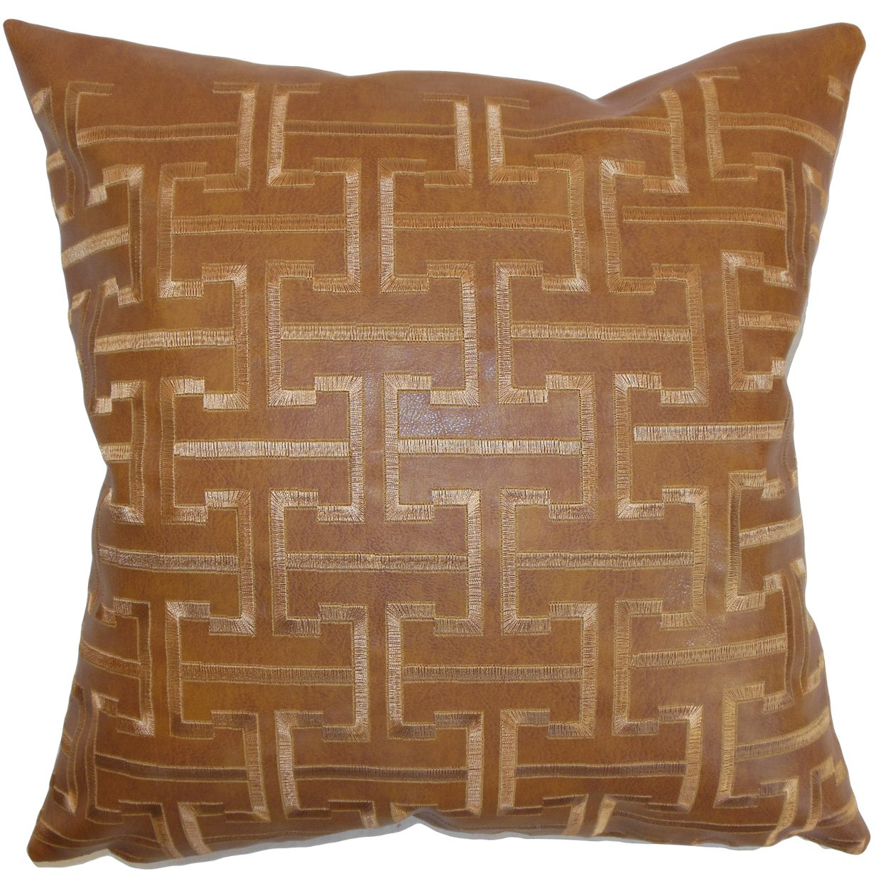 The Pillow Collection Quine Geometric Pillow Espresso