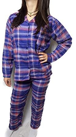 Damen Schlafanzug Flanell Pyjama Pullover + Hose S M L XL Farbe nich wählbar + Toppreis