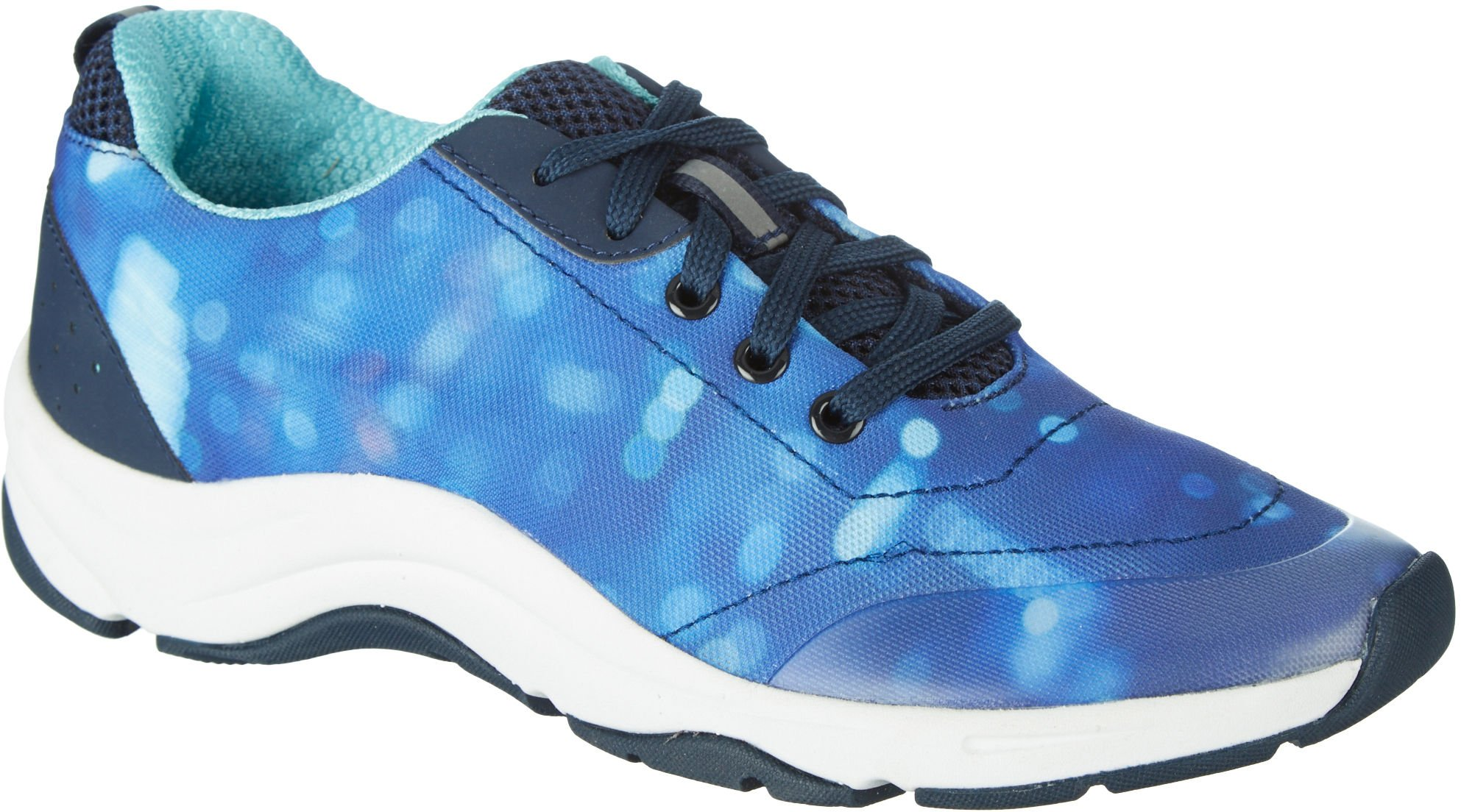 Vionic Womens Action Tourney Womens Active Lace Up Blue Teal Size 7.5