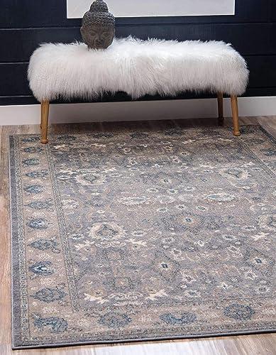 Unique Loom Salzburg Collection Traditional Oriental Gray Area Rug 10' 0 x 13' 0