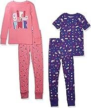 Amazon Brand - Spotted Zebra 4-Piece Snug-Fit Cotton Pajama Set