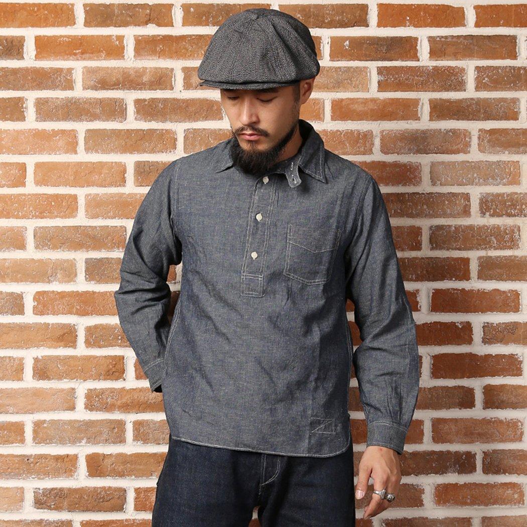 Men's Vintage Workwear – 1920s, 1930s, 1940s, 1950s Bronson 1870S Back To Old Time Pull Over Jumper Linen Cloth Overalls Shirt $39.99 AT vintagedancer.com