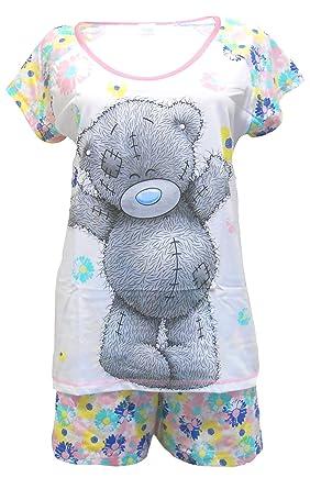 327010ade2cd51 Me to You Tatty Teddy Flowers Damen Shorty Schlafanzug Nachtwäsche