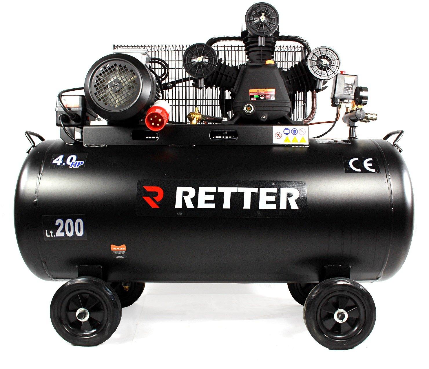 retter rt4200 Compresor 200L, ölgeschmiert Compresor De Aire 3 Cilindro: Amazon.es: Industria, empresas y ciencia